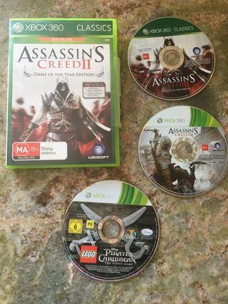 3 juegos para Xbox 360