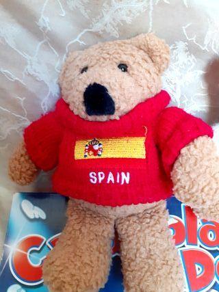 pareja de osos de peluche de la Eurocopa 2012