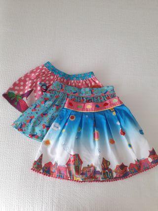 Lote falda niña T3-4