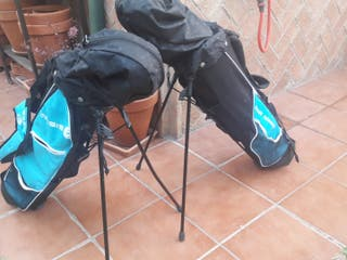 2 bolsas Inesis de golf junior con palos