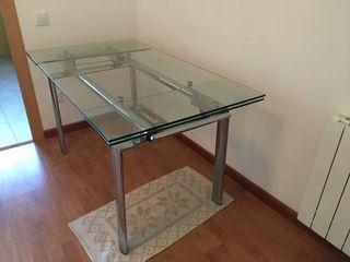 Mesa extensible de vidro / cristal - ¡REBAJADA!
