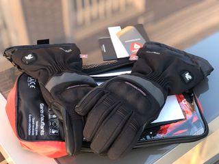 Guantes calefactables + Kit baterías moto. Mujer.