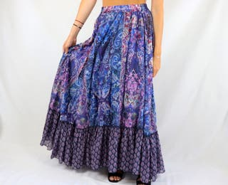 Falda larga maxi Replay Talla S azul NUEVA
