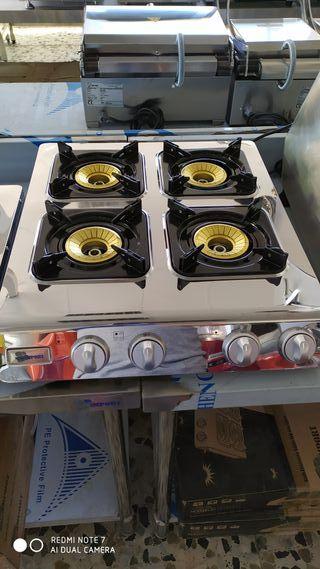cocina industrial de 4 fuegos sobremesa eco