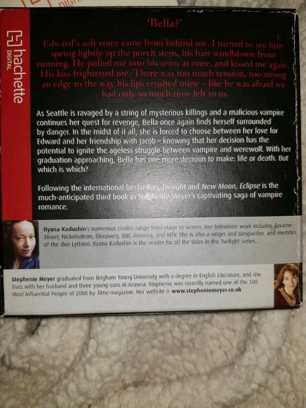 ECLIPSE by Stephenie Meyer Audiobook 13CD