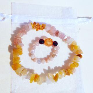 Set Goddess of the Sun healing bracelet&ring
