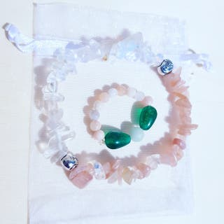 Balancing and healing set bracelet with ring
