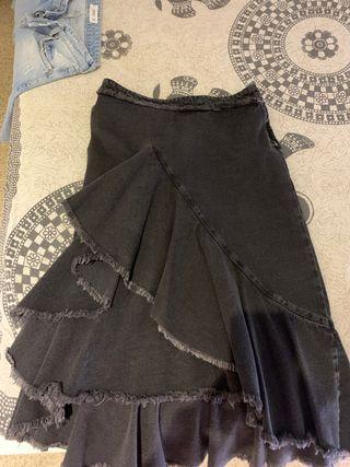 Falda tejana negra talla M