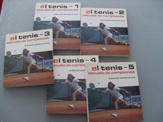 El tenis. Escuela de Campeones. 5 TOMOS. COLECCIÓN