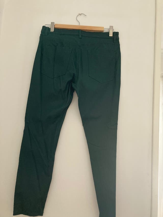 Semi leather green pants