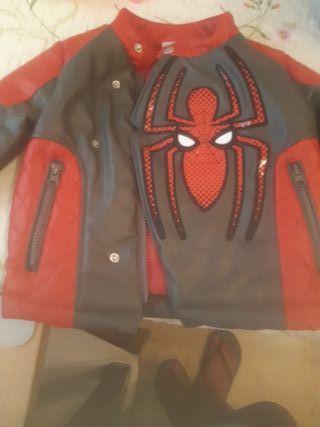 chaqueta cuero spiderman 2 años