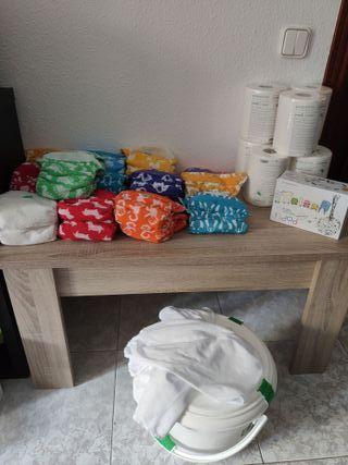 Sistema de pañales lavables de dos partes: 20+ 4Un