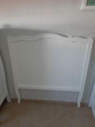 cabecero cama de 90cm Blanco