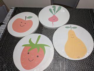 Cuadros precintados de frutas y hortalizas