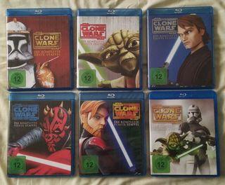 Star Wars Clone Wars serie completa en bluray