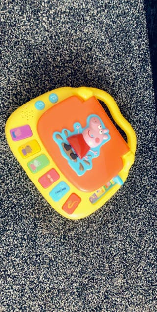 Peppa pig laptop toy