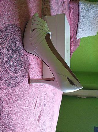 zapatos de novia piel