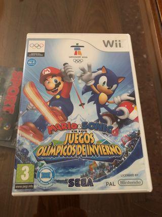 Mario y Sonic Juegos Olímpicos de Invierno Wii