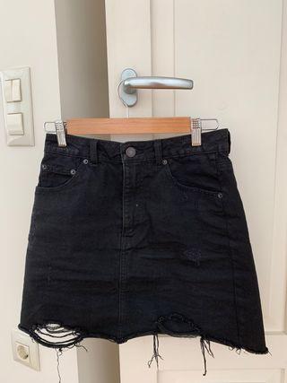 falda tejana negra