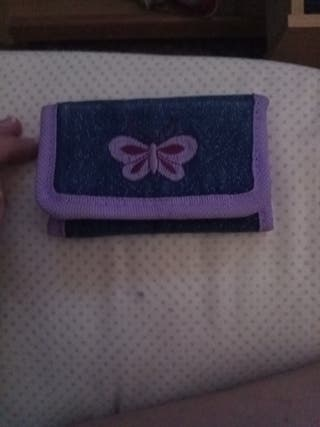 monedero de mariposa