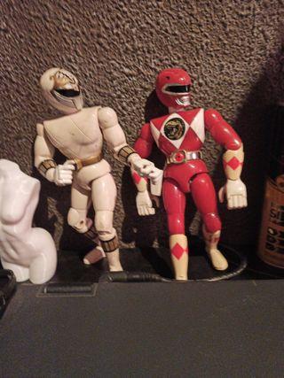Power Rangers 1993 red & White vintage bandai