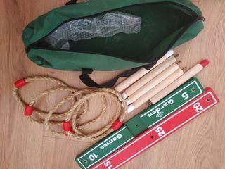Juego de puntería de madera