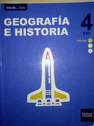Libros de geografía e historia de 4° E.S.O.