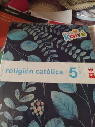 libro de religión quinto de primaria