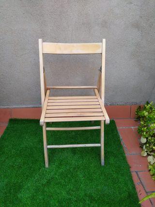 silla plegable laminada