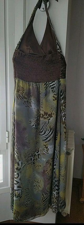 Vestido largo de fiesta animal print