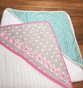 Nuevo capa toalla bebe niña
