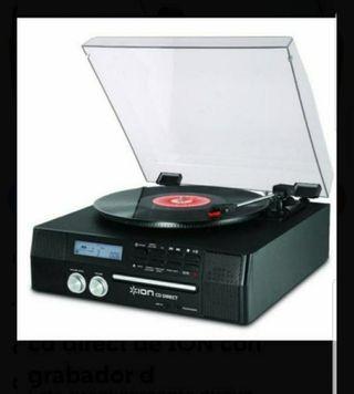 Tocadiscos digital cd direct de ION con grabador d