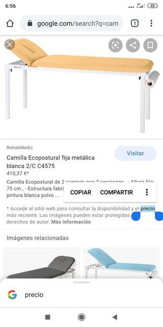 Camilla Fija Ecopostural 1a Marca en Camillas