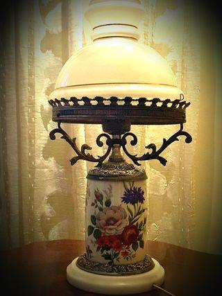 Antigua lámpara, estilo Quinque