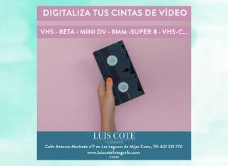DIGITALIZA TUS CINTAS DE VÍDEO