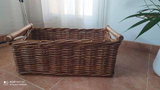 cesta de mimbre grande