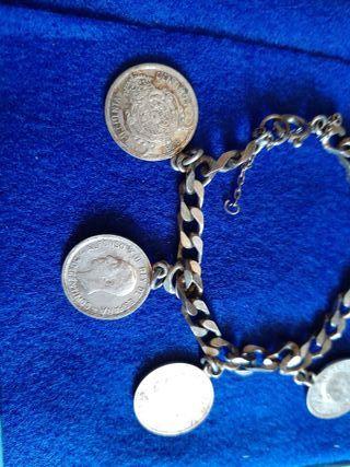 pulsera de plata ,con monedas plata ALFONSO XIII