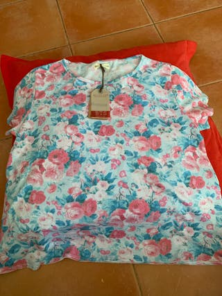 Camiseta de flores T m