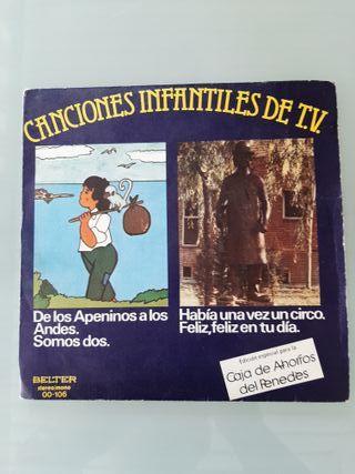 Disco Vinilo Canciones infantiles de tv