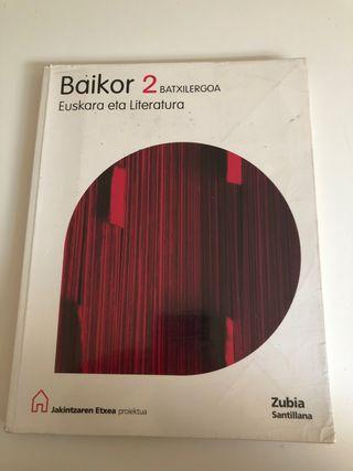 Libro Batx Baikor Euskara eta Literatura 2 Liburua