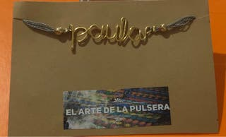 Pulsera personalizada de nombre Paula