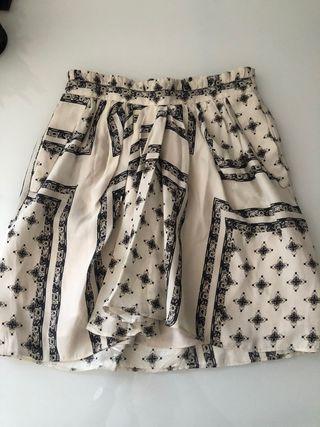 Falda mini estampado Zara