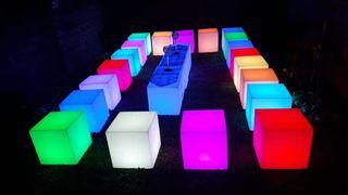 Muebles de jardin con luz