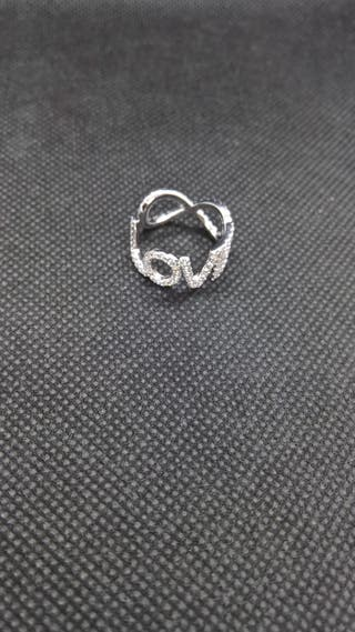 Love Letter CZ Ring Sterling Silver
