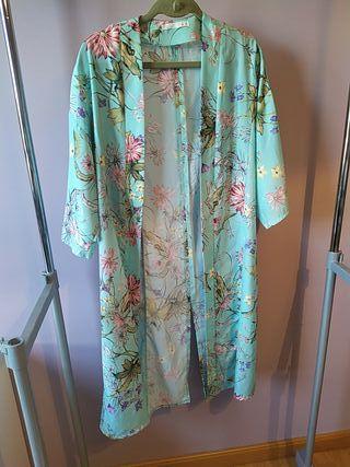 Kimono verde azulado