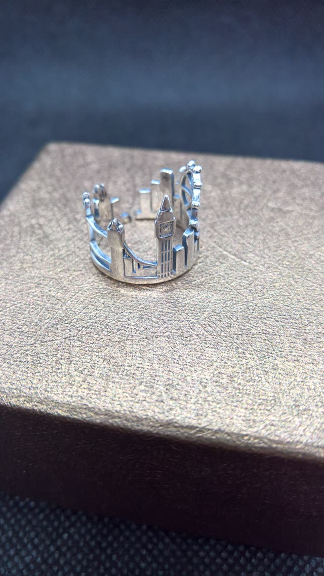 Twin Towers ring 925Sterling Silver