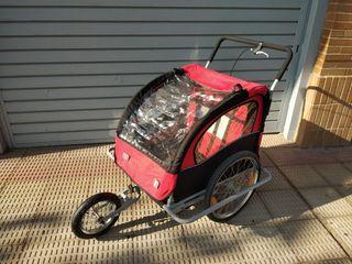 Carrito transportador remolque bici