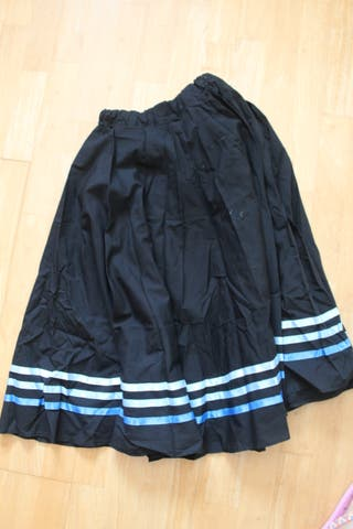 Falda midi cintas azules