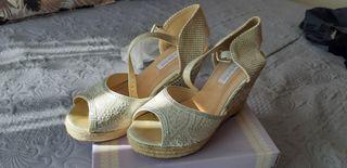 Zapato cuña boda