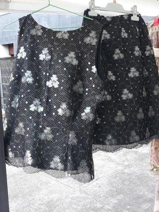 Conjunto de top más falda